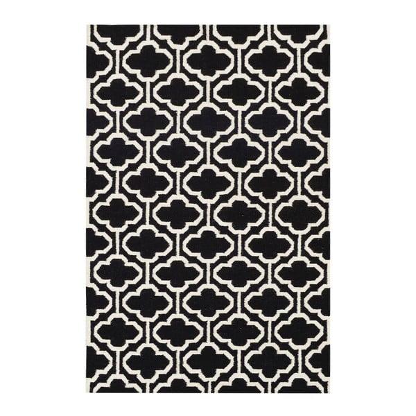 Vlněný koberec Penelope Black, 140x200 cm