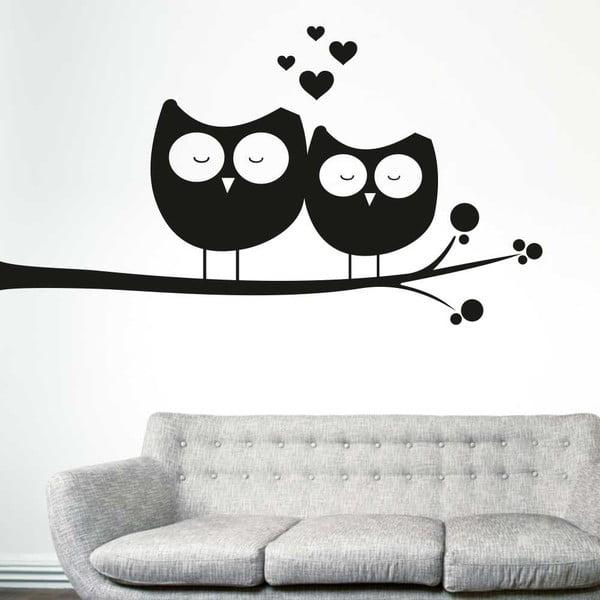 Samolepka na stěnu Zamilované sovy, pravá strana