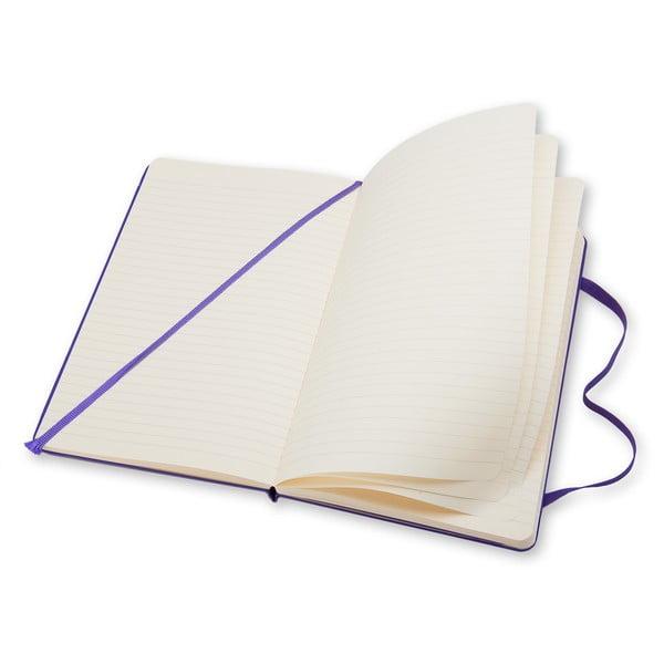 Fialový zápisník Moleskine Briliant Hard, velký