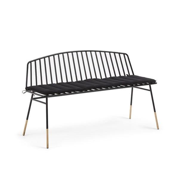 Siena fekete ülőpad, hossz 120 cm - La Forma