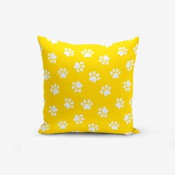 Față de pernă cu amestec din bumbac Minimalist Cushion Covers Yellow Background Pati, 45 x 45 cm, galben de la Minimalist Cushion Covers