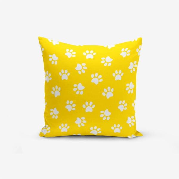 Față de pernă cu amestec din bumbac Minimalist Cushion Covers Yellow Background Pati, 45 x 45 cm, galben