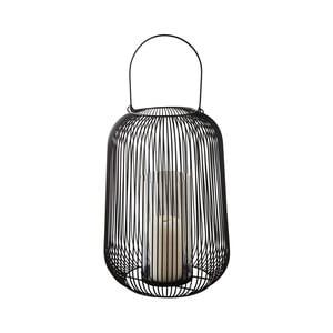Černá kovová lucerna Native Industrial, ⌀22,5 cm