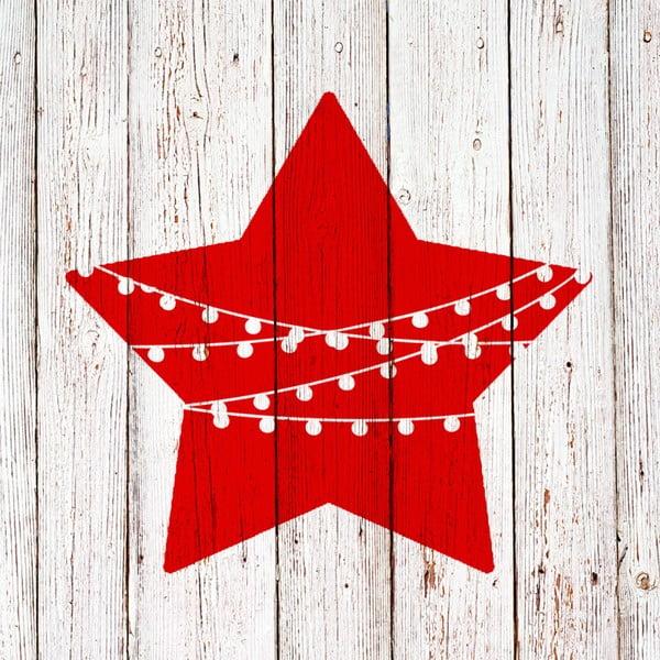Balenie 10 papierových obrúskov s vianočným motívom PPD Chalet Deco Star