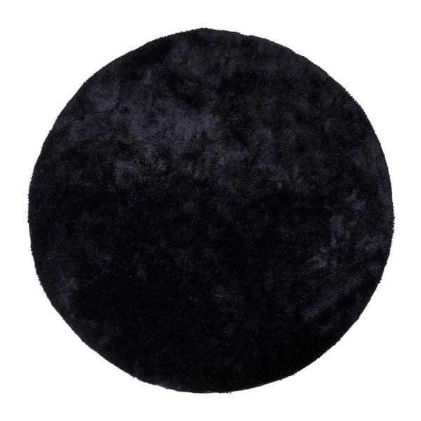 Florida fekete kerek szőnyeg, ø 120 cm - House Nordic