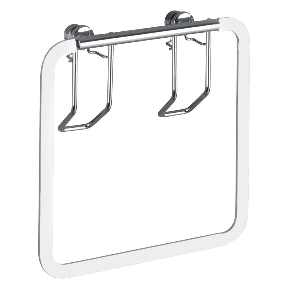 Produktové foto Nástěnný držák na ručníky z nerezové oceli Wenko Premio Square