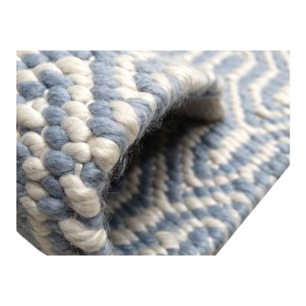 Šedo-modrý koberec Kayoom Spring, 80x150cm