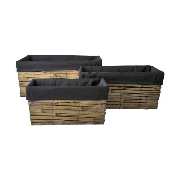 Set tří košíků 20x42x28 cm, bambus