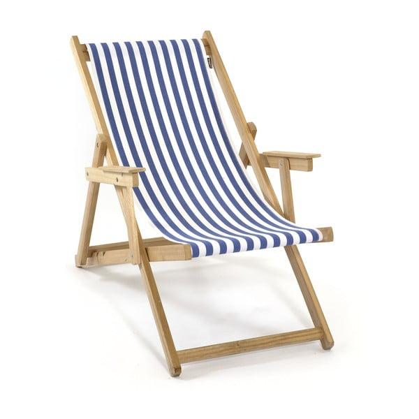 Skládací lehátko Beach, modré proužky