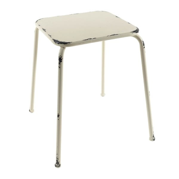 Kovová stolička Antique White