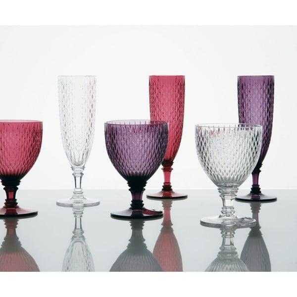Set fialových vinných sklenic, 2 ks