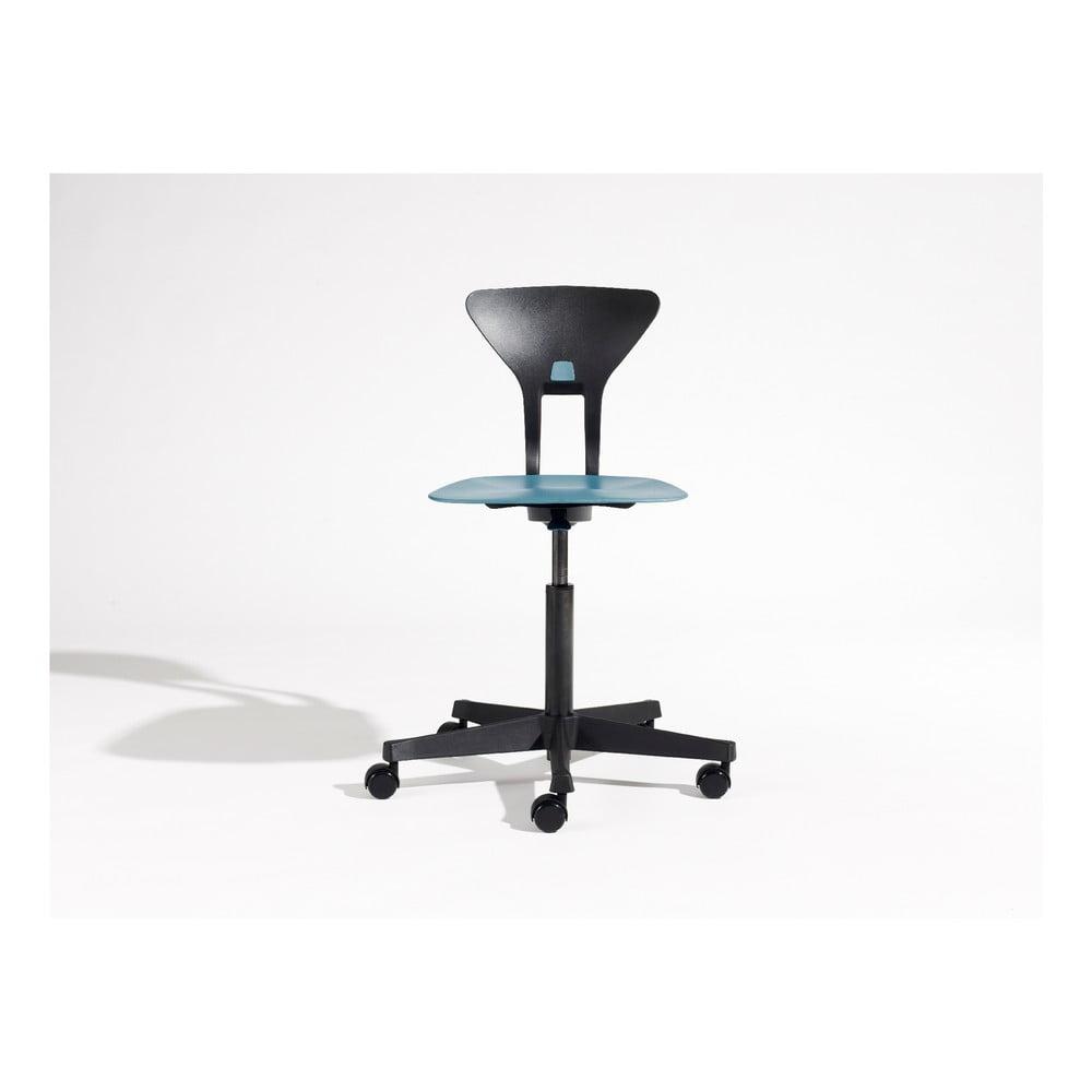 Modro-černá dětská otočná židle na kolečkách Flexa Ray