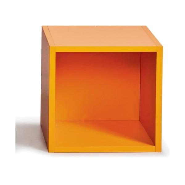 Úložný box (vhodný ke knihovnám), oranžový