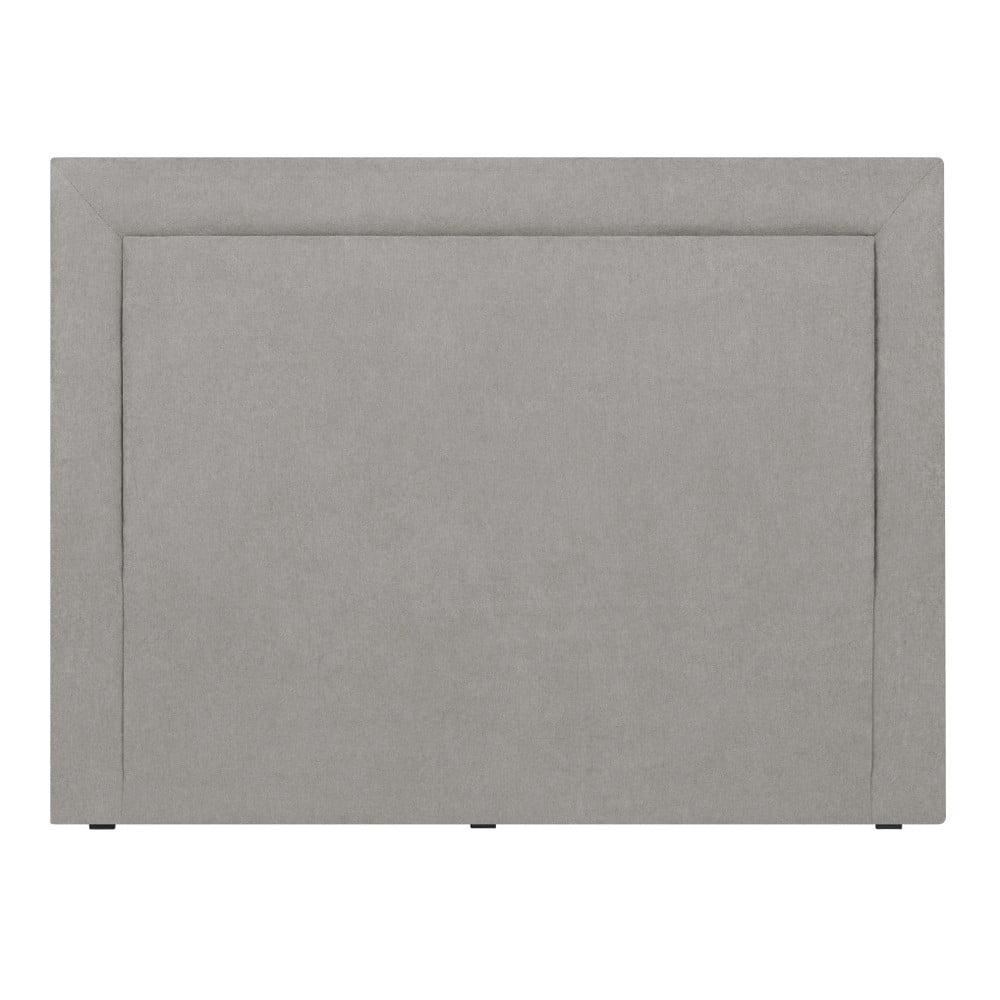 Světle šedé čelo postele Mazzini Sofas Ancona, 160 x 120 cm