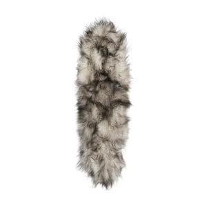 Šedo-bílý kožešinový koberec s krátkým chlupem Arctic Fur Dara, 165x55cm