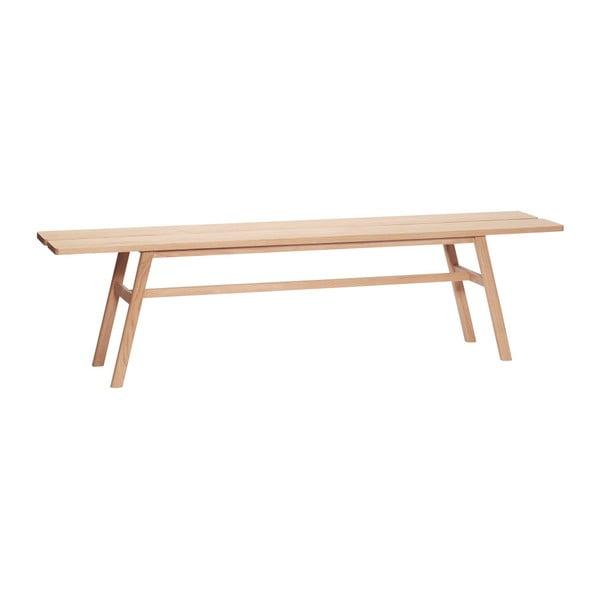 Ławka z drewna dębowego Hübsch Ingeborg