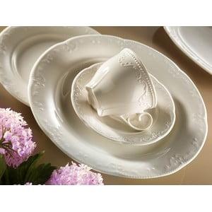 Sada 6 porcelánových šálků s podšálkem na čaj Kutahya Elegance