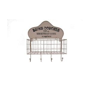 Nástěnný košík se čtyřmi háčky Antic Line Bains