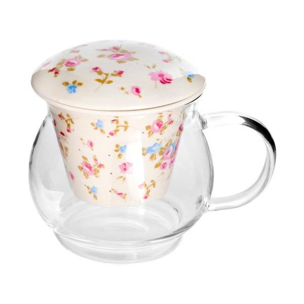 Szklany kubek do herbaty z sitkiem Bambum, 500 ml