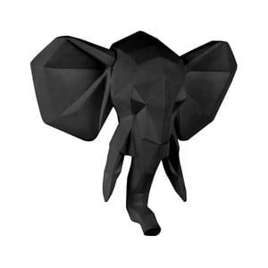Matně černý nástěnný věšák PT LIVING Origami Elephant