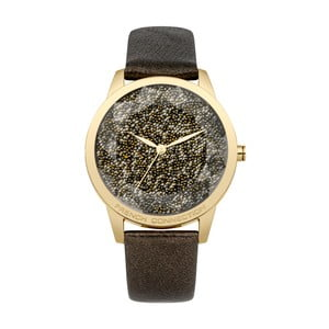 Černozlaté dámské hodinky French Connection Amaline