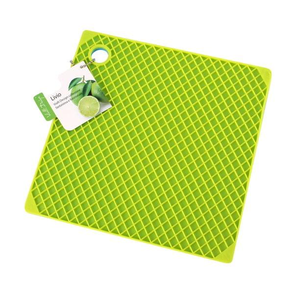 Silikonová podložka pod hrnce, modrá/zelená