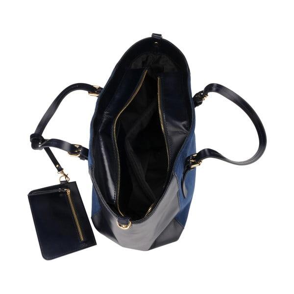 Kožená kabelka Gomeisa, tmavě modrá