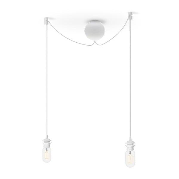 Bílý dvojitý závěsný kabel ke svítidlům VITA Copenhagen Cannonball