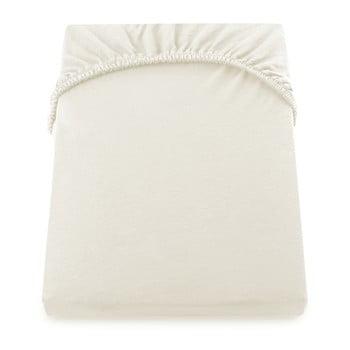 Cearșaf de pat cu elastic DecoKing Nephrite, 160–180 cm, crem de la DecoKing