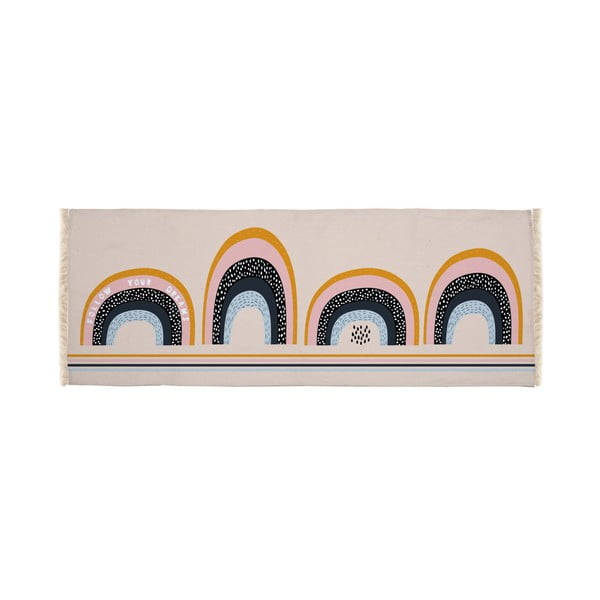 Dětský koberec Little Nice Things Rainbows, 135x55cm