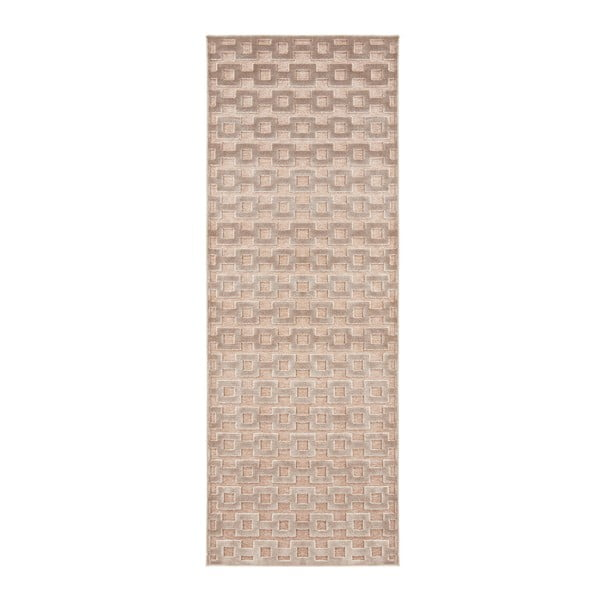 Hnedo-medený behúň Mint Rugs Shine, 80 × 250 cm