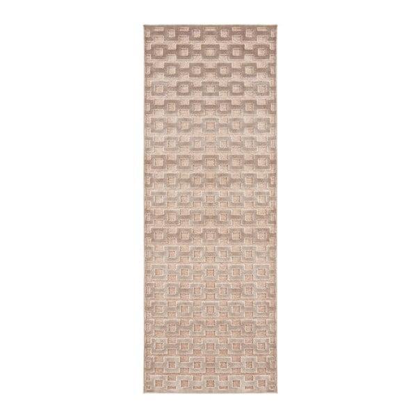 Covor Mint Rugs Shine, 80 x 250 cm, maro - arămiu