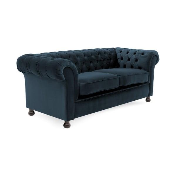 Canapea 3 locuri Vivonita Chesterfield, albastru închis