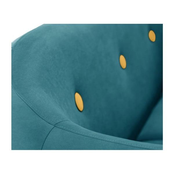 Canapea pentru 3 persoane Scandi by Stella Cadente Maison, verde