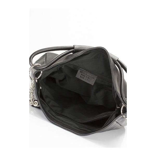 Černá kožená kabelka Lisa Minardi Herta