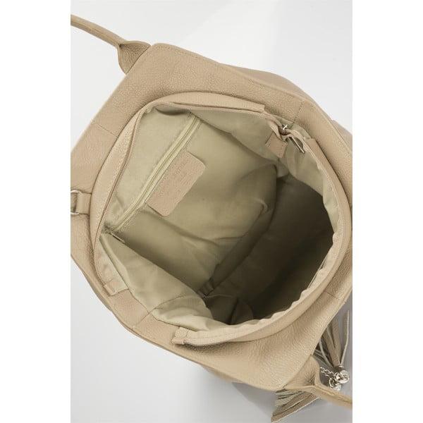 Kožená kabelka Shena, béžová