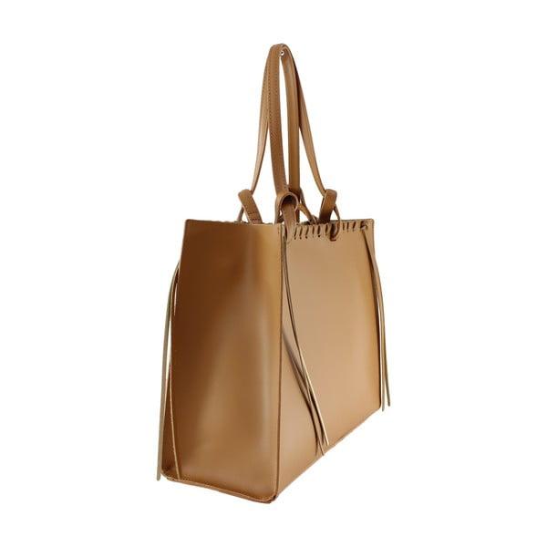 Kožená kabelka Linda, hnědá