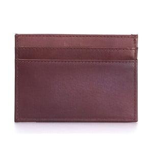 Rudé kožené pouzdro na karty a vizitky O My Bag Mark´s