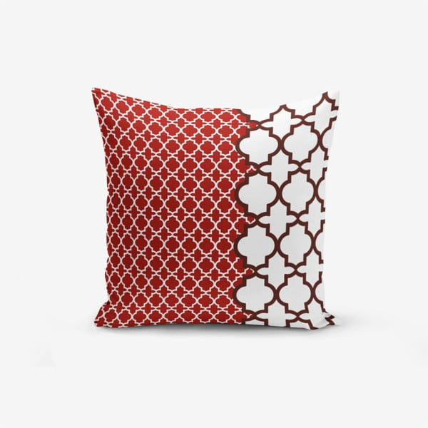 Modern Geometric Rojo pamutkeverék párnahuzat, 45 x 45 cm - Minimalist Cushion Covers