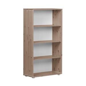Hnědá dětská knihovna z borovicového dřeva Flexa Classic, výška 133 cm