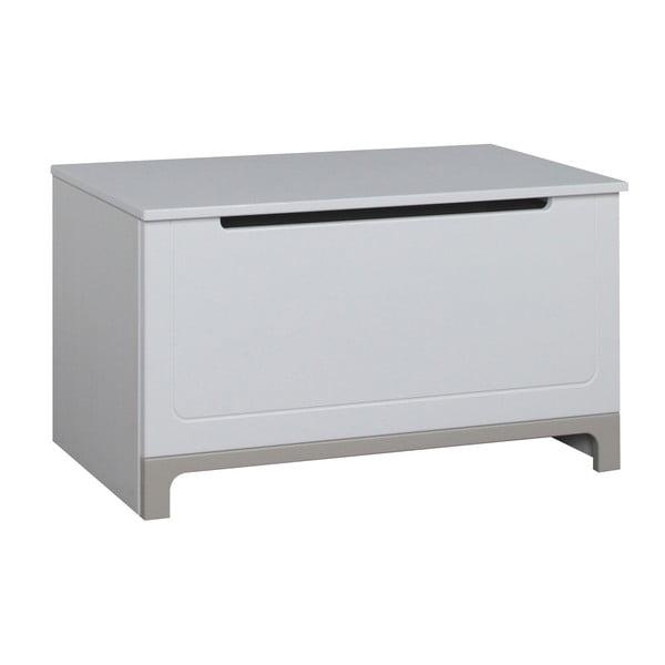 Bielo-sivá truhlica na hračky Pinio Mini