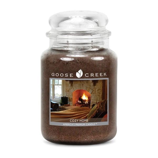 Lumânare parfumată în recipient de sticlă Goose Creek Cozy Home, 150 ore de ardere