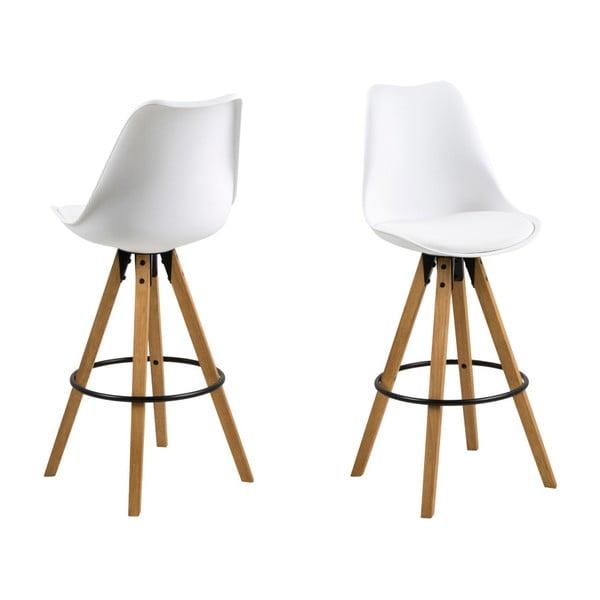 Sada 2 bílých barových židlí Actona Dima