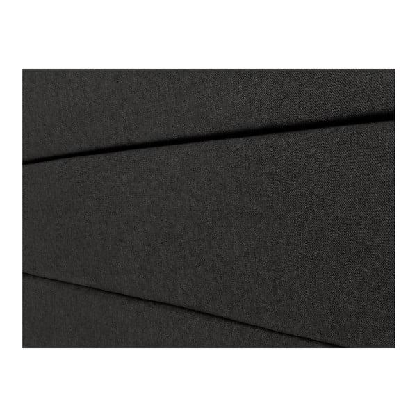 Černé čelo postele Mazzini Sofas Pesaro, 200 x 120 cm