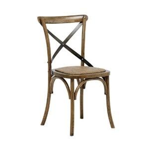Sada 2 hnědých jídelních židlí Interstil Vintage