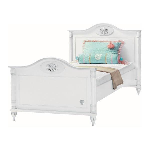 Biela jednolôžková posteľ Romantic Bed, 100 × 200 cm