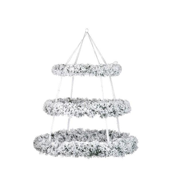 Bílá závěsná vánoční dekorace J-Line Wreath