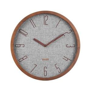 Šedé nástěnné hodiny Karlsson Canvas,ø35cm