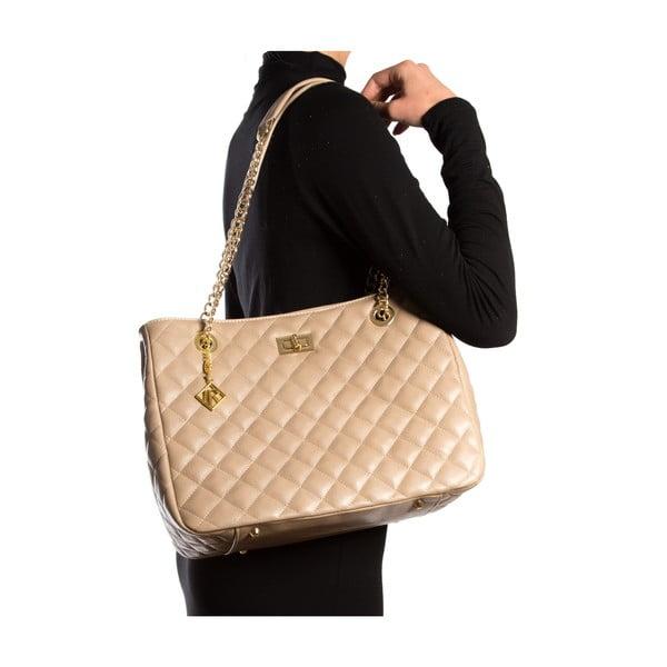 Kožená kabelka Isabella Rhea 2055, béžová