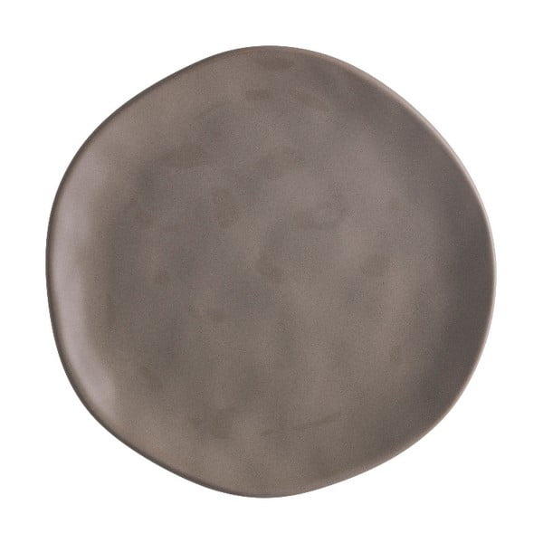 Hnědý porcelánový talíř na pizzu Brandani Pizza, ⌀20cm